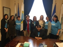MN Participants meeting with Emily German, Legislative Assistant at Office of Congressman Rick Nolan